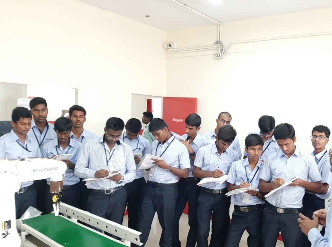 Students in live demo session